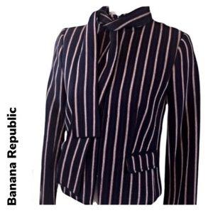 BANANA REPUBLIC Zip Blazer w/ Removable Tie-sz 2